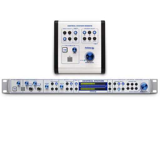 PRESONUS CENTRAL STATION PLUS STUDIO CONTROL CENTER INTERFACE WITH REMOTE