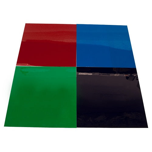 "American DJ Cgs-8C Adj Cgs Gel Sheet Pack - 8""X8"", Magento, Congo Blue, Light Green, Aqua - Red One Music"