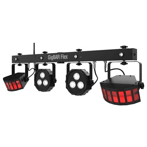 CHAUVET GIGBAR-FLEX STAND NOT INCLUDED 3-IN-1 LIGHTING SYSTEM WITH LED DERBYS PARS AND STROBES
