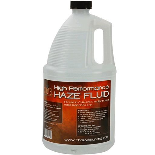 Chauvet Hfg Haze Liquid Haze Fluid Gallon - Red One Music