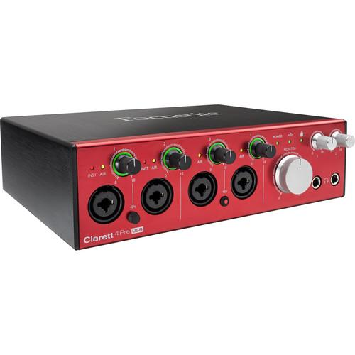 Interface audio USB Focusrite CLARETT 4PRE USB 18X8 - Red One Music