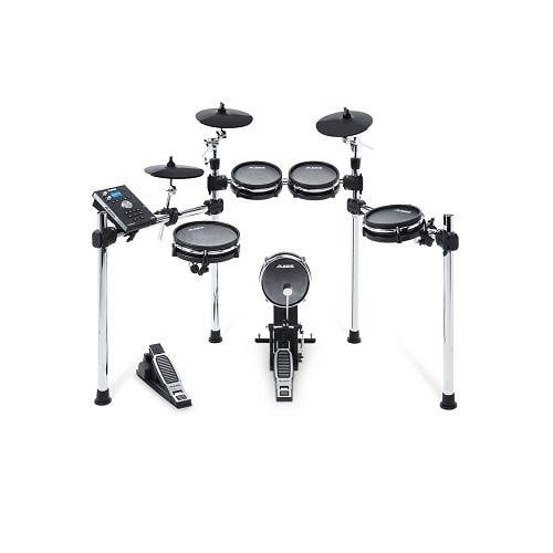 Alesis Command Mesh Kit 8-Piece Electronic Drum Kit With Mesh Heads - Red One Music