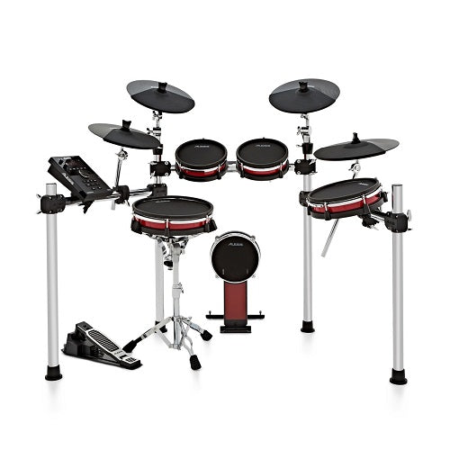 Alesis Crimson II Kit Nine-Piece Electronic Drum Kit with Mesh Heads - Red One Music