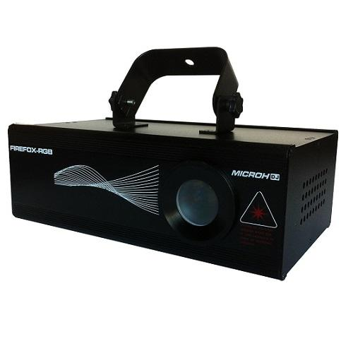 MICROH DJ FIREFOX-RGB USED 500MW RGB MULTI BEAM DMX LASER EFFECT USED IN VERY GOOD CONDITION