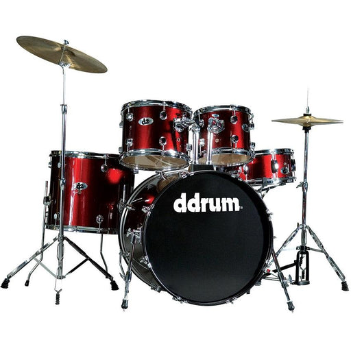 Ddrum Br D2 Series - Blood Red - Complete Drum Set With Cymbals