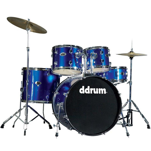 DDrum D2 PB D2 SERIES - Police Blue - Complete Drum Set With Cymbals - Red One Music