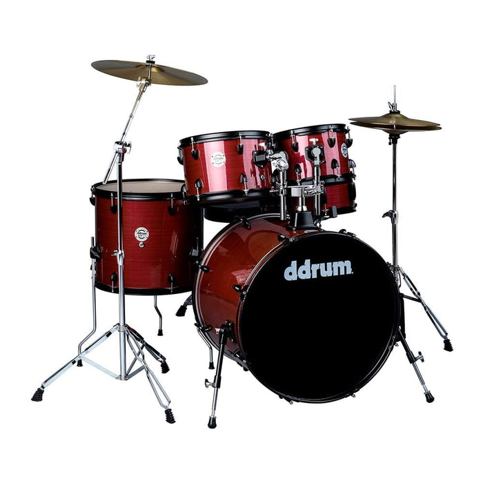 Ddrum D2P Rps D2 Player - Red Pinstripe - Complete Drum Set With Cymbals