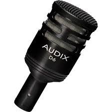 Audix D6 Dynamic Cardioid Kick Drum Microphone - Red One Music