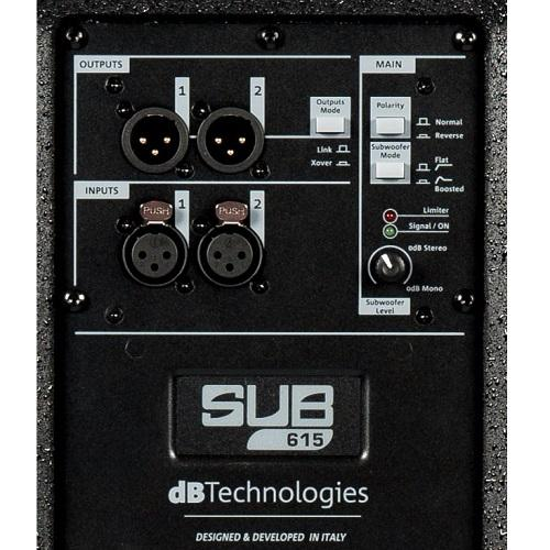 Db Technologies Sub 615 Active Subwoofer - Red One Music