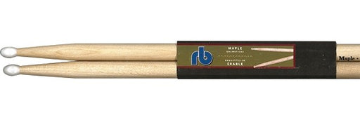 RB Drums RB-7AN Maple Drum Sticks w/ Nylon Tips - Red One Music