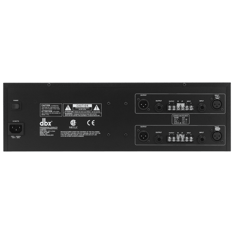 Dbx 1231V Dual Channel 31-Band Equalizer - Red One Music