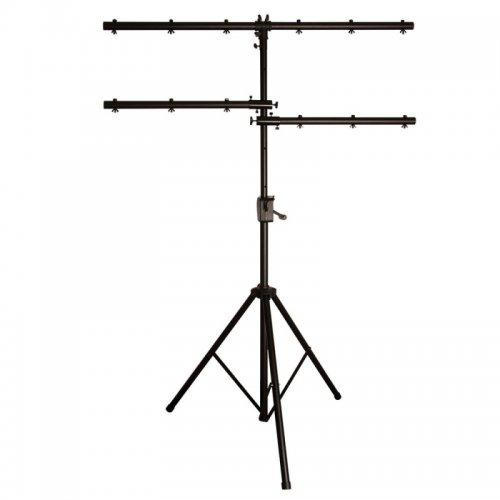 On-Stage Stands Ls7805Qik Power Crank-Up Lighting Stand Lighting Stand For Up To 12 Pars - Red One Music