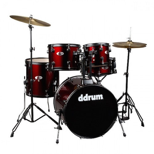 DDrum D120 BR D SERIES 5 Piece Drum Set Complete - Red One Music