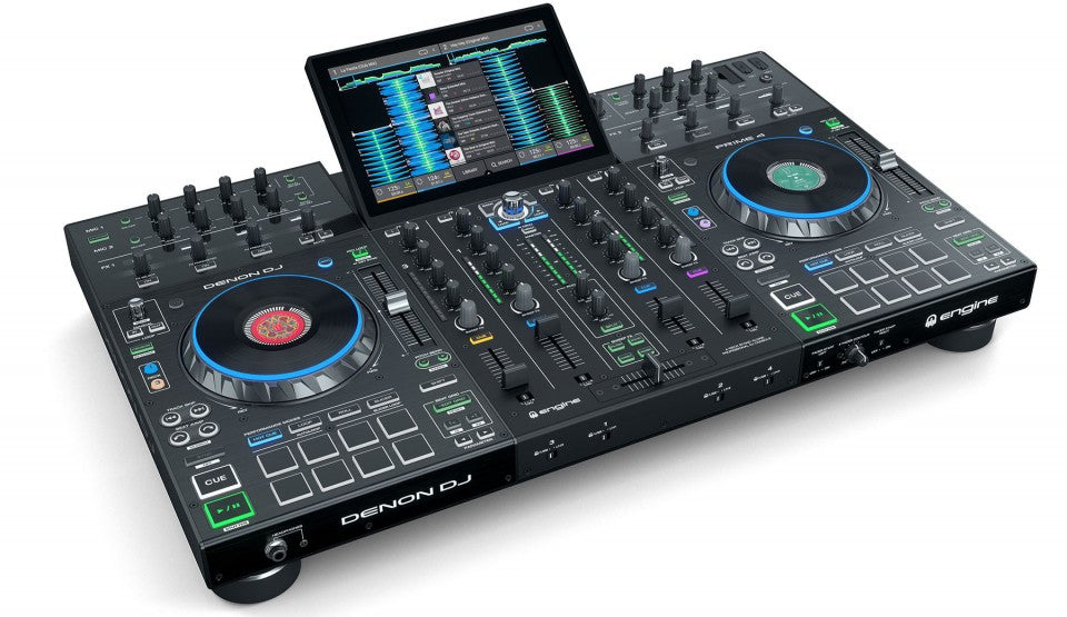 "Denon DJ Prime 4 Standalone 4-Deck 10"" HD Multitouch Display"