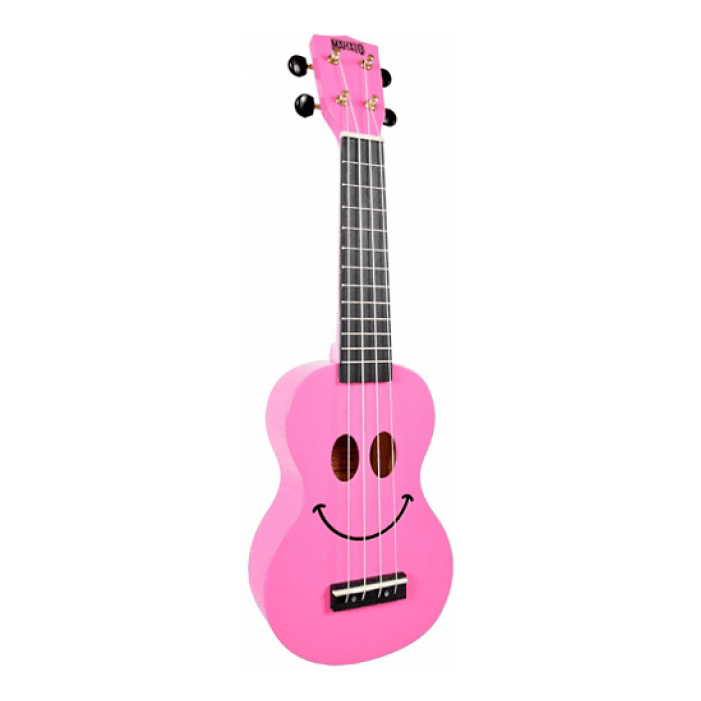 Mahalo U-Smile Pink A Colorful Ukulele Thats Guaranteed To Raise A Smile - Red One Music
