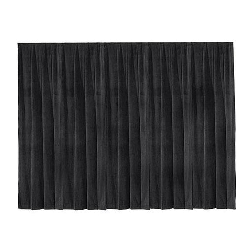 THE SCREEN WORKS DRAPE DR12X13 VELOUR 12 X 13 DRAPERY NDASH COLOR BLACK