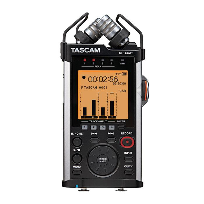 Tascam DR-44WL Portable Handheld Recorder With Wi-Fi - Red One Music