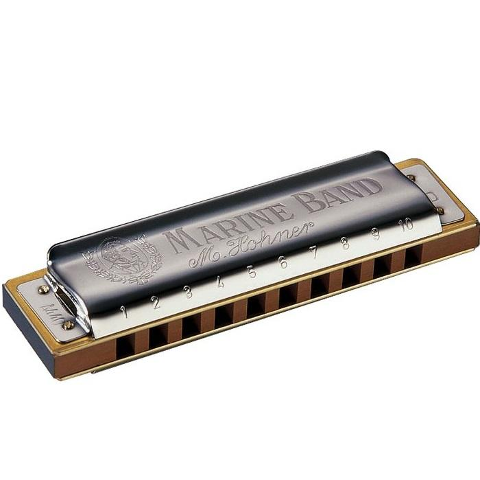 Hohner 1896Bx-D Marine Band  1896 Classic Harmonica In D Key