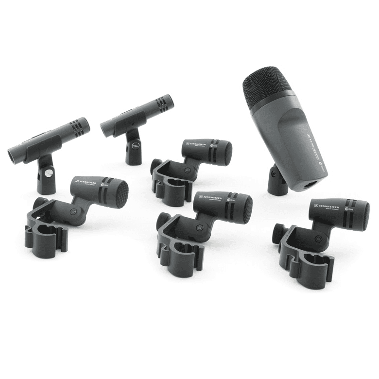 Sennheiser Drum Pack Iii  Set Of 4 X E604  1 X E602-Ii  2 X E614 Drum Microphones With Clips And Case - Red One Music