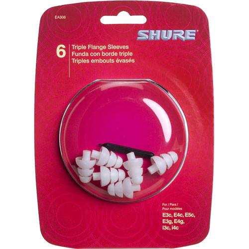 SHURE EATFL1-6 TRIPLE FLANGE SLEEVES 3 PAIR