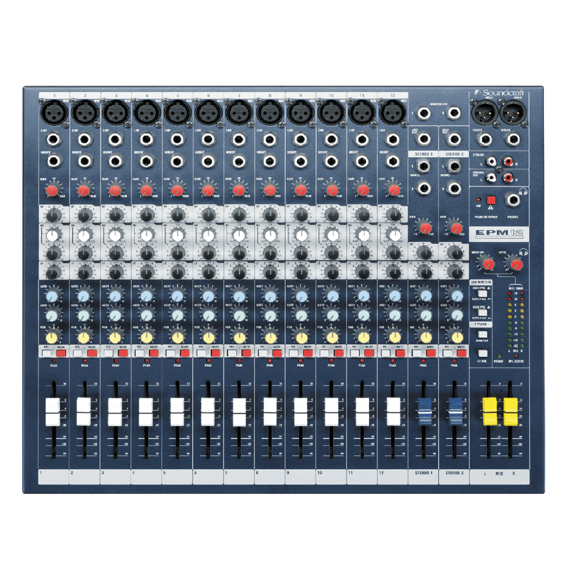 Soundcraft EPM 12 12-Channel Mixer With 3-Band Channel Eq - Red One Music