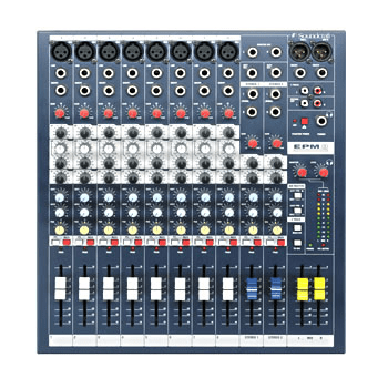 Soundcraft EPM 8 10-Channel Mixer With Eight Mic Preamps And 3-Band Channel Eq - Red One Music