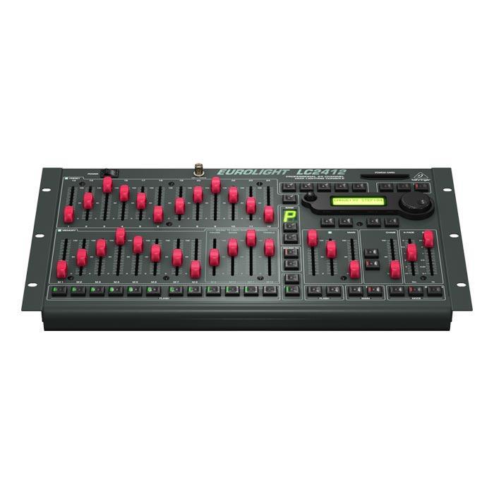 BEHRINGER EUROLIGHT LC2412  PROFESSIONAL 24-CHANNEL DMX LIGHTING CONSOLE