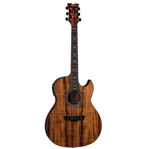 Dean Ex Koa Wood Acoustic Electric Guitar