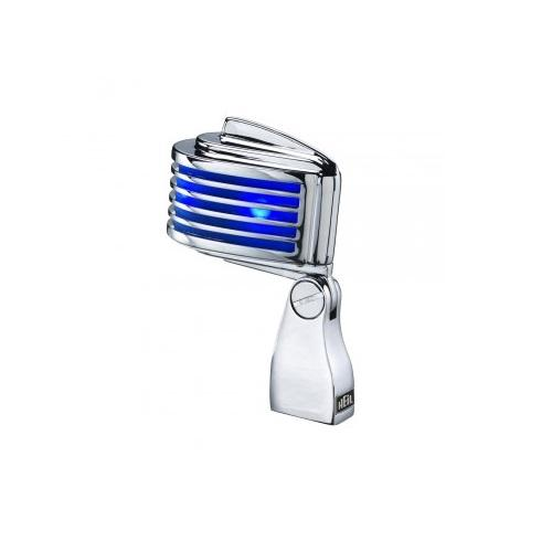 Heil Sound Fin Blue Chrome Mic With Blue Led - Red One Music