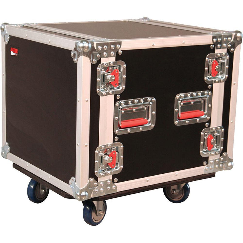 Gator G-Tour 10U Cast Ata Wood Flight Rack Case - Red One Music