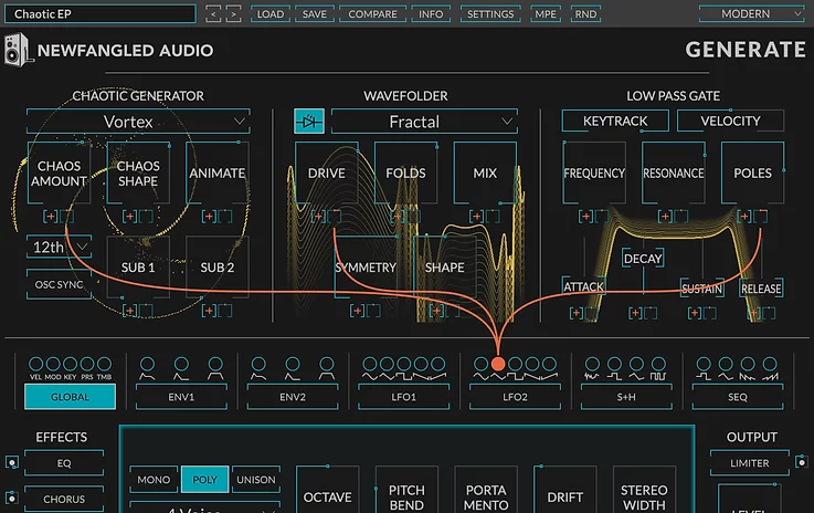 Newfangled Audio Generate Marquee Chaotic Polysynth  (Download)