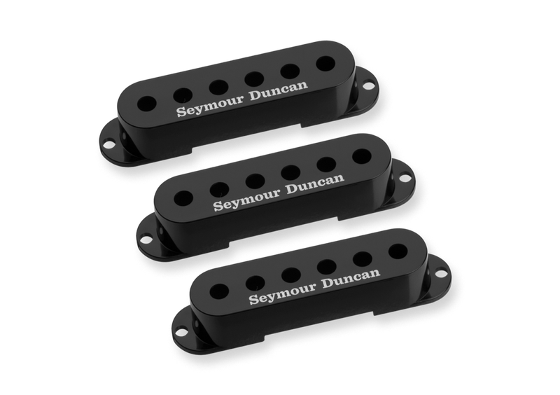 Seymour Duncan 11800-01-B Strat Cover Black Pack of 3 with Logo