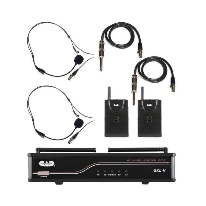Cad Gxlvbb Dual Dual Bodypack Wireless System - Red One Music