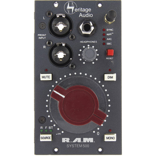 Heritage Audio RAM 500 System 500 Series Monitoring Module - Red One Music
