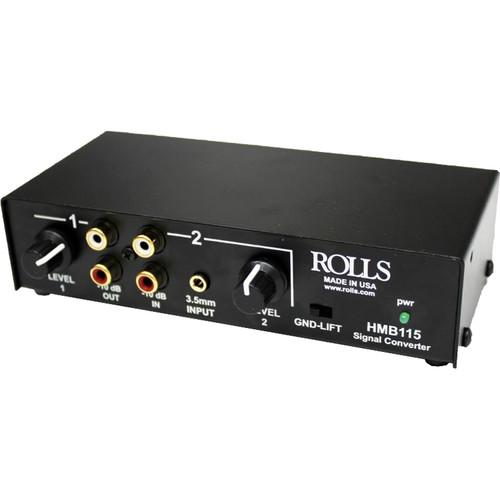 Rolls Hmb115 2-Channel Stereo Analog Audio Balanced Tofrom Unbalanced Signal Converter - Red One Music