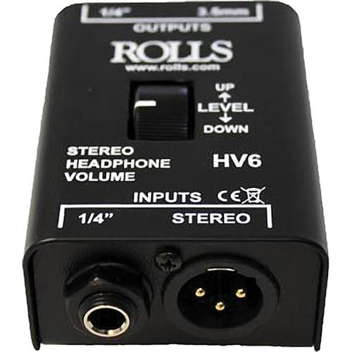 Rolls Hv6 Stereo Headphone Volume Control - Red One Music