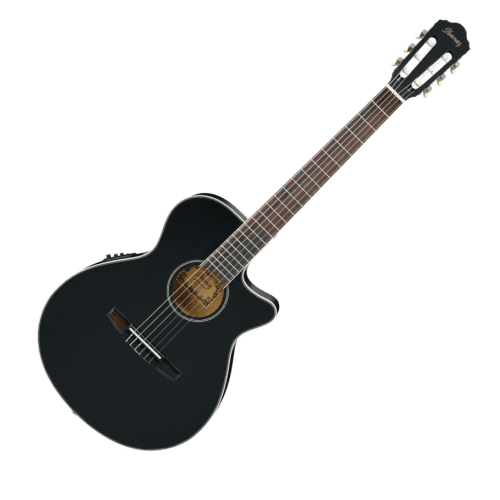 IBANEZ AEG8TNE-BKF AEG SERIES 6 STRING CLASSICAL ACOUSTIC ELECTRIC GUITAR IN BLACK FLAT