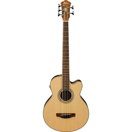 Ibanez Aeb105E-Nt Ae Acoustic 5 String Bass-Natural - Red One Music