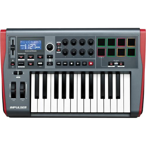 Novation Impulse 25 Usb Midi Keyboard Controller - Red One Music