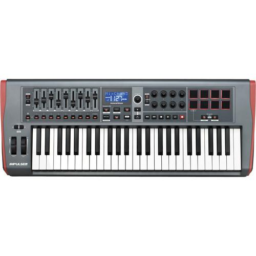 Novation Impulse 49 Usb Midi Keyboard Controller - Red One Music