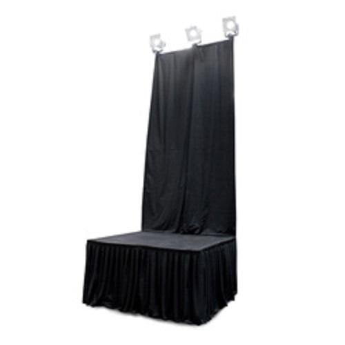 Intellistage Isbdc4 Curtain For Backdrop - Red One Music