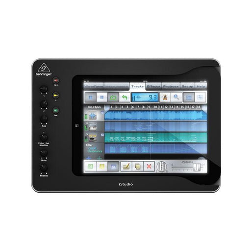 Behringer ISTUDIO IS202 Professional iPad Docking Station With Audio Video And Midi Connectivity iPad Not Included - Red One Music