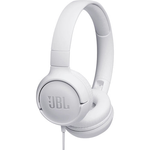 JBL T500WHTAM Wired On-Ear Headphones (White) - Red One Music