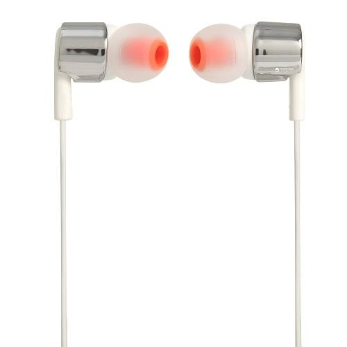 Écouteurs intra-auriculaires JBL T210 Silver - Red One Music