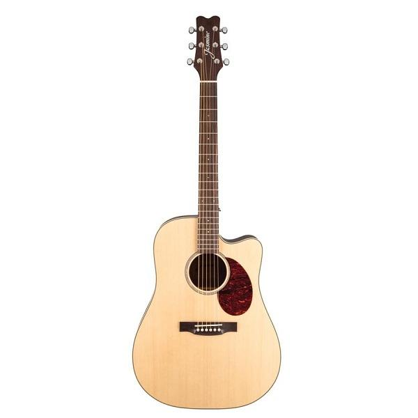 Jasmine Dreadnought Cutaway Jd-37Ce Acousticelectric Guitar - Red One Music