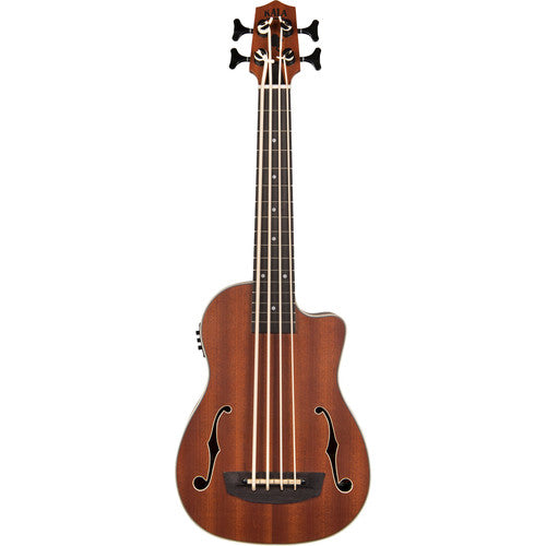 Kala Ubass-Jymn-Fs Journeyman Acoustic/Electric U·Bass With F-Holes - Red One Music