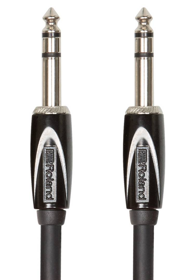 Roland RCC-3-TRTR Interconnect Cable, 1/4-inch TRS, Black series - 3 ft