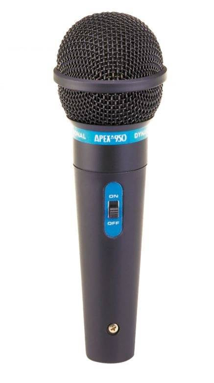 Apex APEX950 Hand Held Dynamic Microphone w/ 1/4-inch Cable