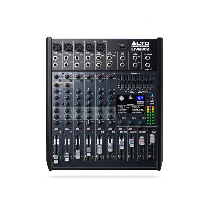 Alto Live 802 Professional 8-Channel  2-Bus Mixer - Red One Music