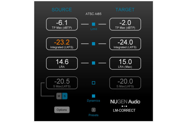NuGen Audio LM-Correct 2 with DynApt Extension - Auto Loudness Compliant Audio Software (Download)